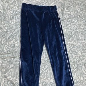 These are Girl's Tommy Hilfiger Suede Sweatpants